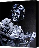 Guitarist George Harrison Canvas Prints - John Lennon Canvas Print by Luke Morrison