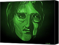 Storm Mixed Media Canvas Prints - John Lennon Canvas Print by Mark Moore