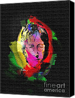 Boy Digital Art Canvas Prints - John Lennon Canvas Print by Mo T