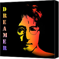 Liverpool England Canvas Prints - John Lennon Canvas Print by Stefan Kuhn
