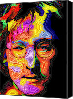 Portrait Special Promotions - John Lennon Canvas Print by Stephen Anderson