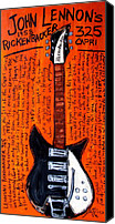Guitar Hero Canvas Prints - John Lennons Rickenbacker Canvas Print by Karl Haglund