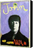 Beatles Pastels Canvas Prints - John Canvas Print by Mike  Mitch