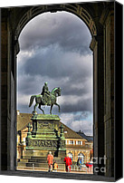 John Canvas Prints - John of Saxony Monument - Dresden Theatre Square Canvas Print by Christine Till