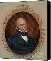 Usa President Canvas Prints - John Quincy Adams, 6th American Canvas Print by Photo Researchers
