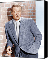 1950s Fashion Canvas Prints - John Wayne, Ca. 1955 Canvas Print by Everett