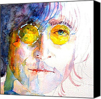 Beatles Canvas Prints - John Winston Lennon Canvas Print by Paul Lovering