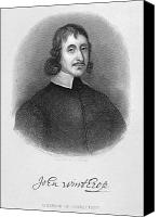 Colonial Man Canvas Prints - John Winthrop The Younger Canvas Print by Granger