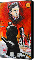 Jon Baldwin Art Canvas Prints - Johnny Cash  Canvas Print by Jon Baldwin  Art