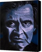 Johnny Cash Canvas Prints - Johnny Cash Canvas Print by Tabetha Landt-Hastings