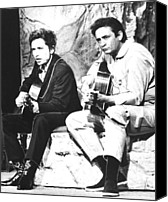 Johnny Cash Canvas Prints - Johnny Cash, With Bob Dylan, C. 1969 Canvas Print by Everett