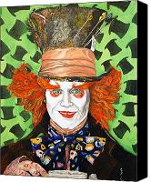 Mad Hatter Canvas Prints - Johnny Depp as the Madd Hatter Canvas Print by Dean Manemann