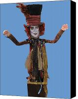 Mad Hatter Canvas Prints - Johnny In The Box Canvas Print by Cathi Doherty