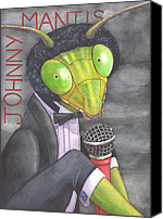 Singer Painting Canvas Prints - Johnny Mantis Canvas Print by Catherine G McElroy