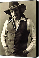 Publicity Shot Canvas Prints - Johnny Paycheck, C. 1970s Canvas Print by Everett