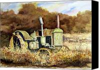 John Deere Tractor Canvas Prints - Johnny Popper Canvas Print by Sam Sidders