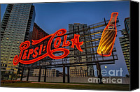 The City That Never Sleeps Canvas Prints - Join The Pepsi Generation Canvas Print by Susan Candelario