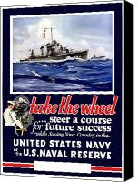 Us Navy Canvas Prints - Join The US Navy Canvas Print by War Is Hell Store