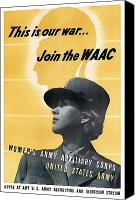 World War I Digital Art Canvas Prints - Join The WAAC Canvas Print by War Is Hell Store