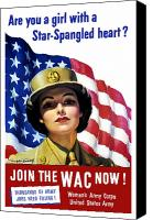 Flag Digital Art Canvas Prints - Join The WAC Now Canvas Print by War Is Hell Store