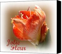 Jolie Canvas Prints - Jolie Fleur Canvas Print by Kathy Bucari