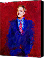 Jon Stewart Canvas Prints - Jon Stewart Canvas Print by Janice MacLellan