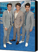 Gray Suit Canvas Prints - Jonas Brothers, Kevin Jonas, Nick Canvas Print by Everett