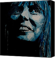 Singer Songwriter Painting Canvas Prints - Joni Mitchell Canvas Print by Paul Lovering