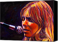 Singer Songwriter Painting Canvas Prints - Joni Mitchell..legend Canvas Print by Vel Verrept