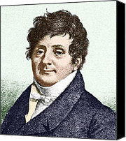 Harmonic Canvas Prints - Joseph Fourier, French Mathematician Canvas Print by Sheila Terry
