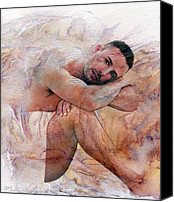 Artistic Nude  Canvas Prints - Joseph Canvas Print by Mark Ashkenazi
