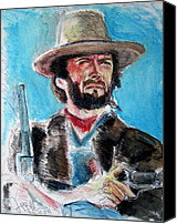 Jon Baldwin Art Canvas Prints - Josey Wales  Canvas Print by Jon Baldwin  Art