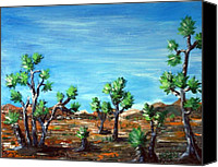 Tree Canvas Prints - Joshua Trees Canvas Print by Anastasiya Malakhova