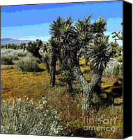 Joshua Trees Canvas Prints - Joshuas And Sage Canvas Print by Glenn McCarthy Art and Photography