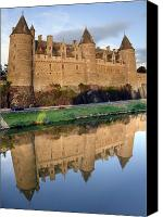 Moat Canvas Prints - Josselin Chateau Canvas Print by Jane Rix