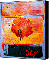 Joyful Canvas Prints - Joy Canvas Print by Betty OHare