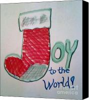 Holiday Cheer Canvas Prints - Joy to the World Canvas Print by Jamey Balester
