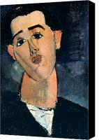 Modigliani Canvas Prints - Juan Gris (1887-1927) Canvas Print by Granger