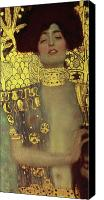 Expressionist Canvas Prints - Judith Canvas Print by Gustav Klimt