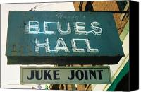 Sign Canvas Prints - Juke Joint Canvas Print by Jame Hayes