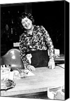 1970s Canvas Prints - Julia Child, Ca. Early 1970s Canvas Print by Everett
