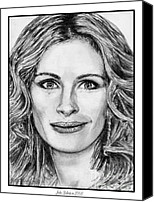 Golden Globe Canvas Prints - Julia Roberts in 2008 Canvas Print by J McCombie