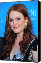 Lip Gloss Canvas Prints - Julianne Moore At Arrivals For The Kids Canvas Print by Everett