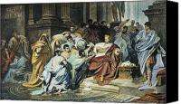 Brutus Canvas Prints - Julius Caesar (100-44 B.c.) Canvas Print by Granger