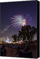 Independence Day Canvas Prints - July 4th 2012 Canvas Print by CJ Schmit