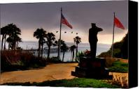 Clemente Digital Art Canvas Prints - July 4th San Clemente Flyover Canvas Print by Barbara Radcliffe