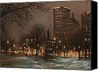 Wisconsin Artist Canvas Prints - Juneau Park Milwaukee Canvas Print by Tom Shropshire