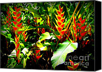 Foilage Canvas Prints - Jungle Fever Canvas Print by Karen Wiles