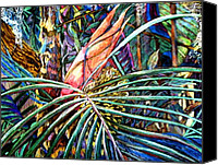 Flora Drawings Canvas Prints - Jungle Fever Canvas Print by Mindy Newman