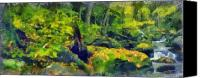 Forest Pastels Canvas Prints - Jungle Green Canvas Print by Russ Harris